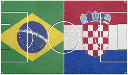 brazil vs croatia group a world cup 2014 football field textur