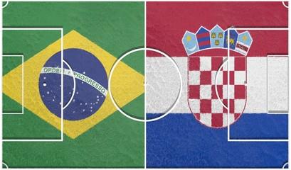 brazil vs croatia group a world cup 2014 football field textur