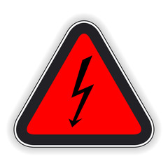 Attention sign. Vector illustration.