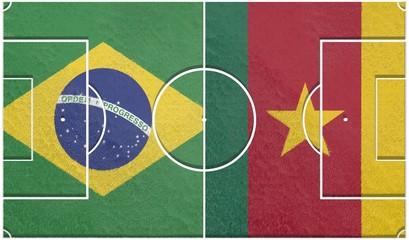 brazil vs cameroon group a world cup 2014 football field textur