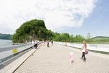 korona zapory wodnej w Solinie, Bieszczady, Polska