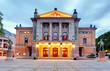 Leinwanddruck Bild - National Theatre in Oslo - Nationaltheatret