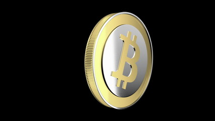 Bitcoin animation - cryptography digital currency coin