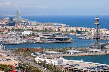 Port Vell in Barcelona from Above