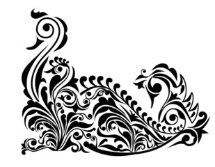 Swan Pattern Design-Vector