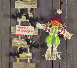 Halloween doll with staircase