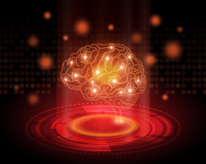 Creative brain concept background