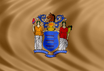 New Jersey flag of silk