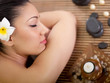 young beautiful woman in spa salon