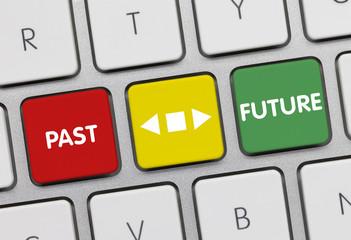 Future versus Past. Keyboard