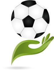 Fußball, Ball, Sport, Hand