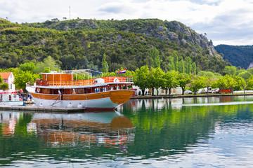 Touristic boat in Skradin, Croatia