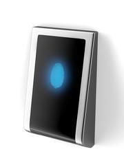 Biometric scan of a finger