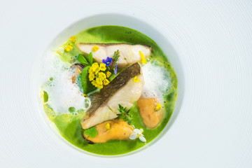 Spring soup with fish
