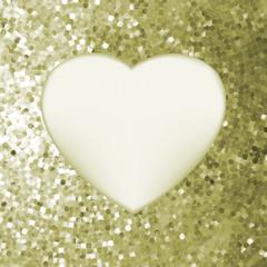 Elegant mosaic glowing heart background. EPS 8