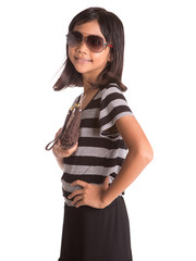 Young Girl With Sunglasses And Purse