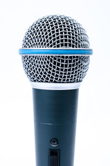 microphone on a white background