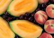 melone,ciliegie e pesche