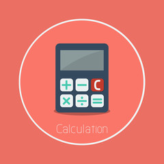 "Calculation : Vector ""calculator"" icon flat design"
