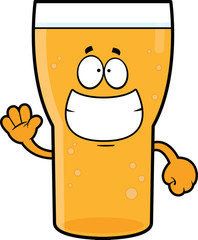 Grinning Cartoon Beer