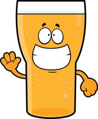 Grinning Cartoon Beer