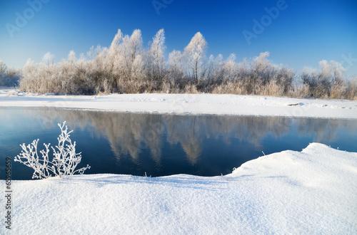 Fotobehang Rivier winter