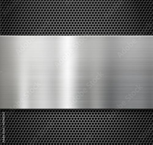 stalowa płyta metalowa nad grzebieniem ruszt tło