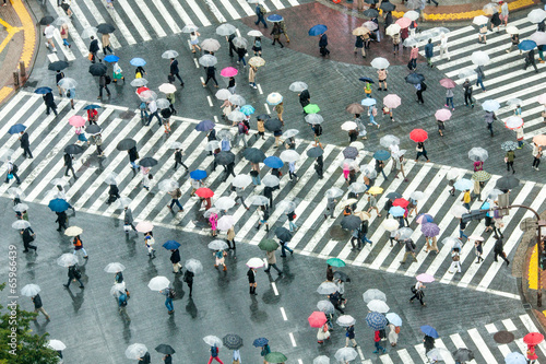 Fotobehang Tokyo Shibuya Crossing