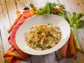 risotto with bottarga ( tuna eggs)