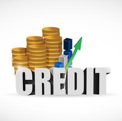 business credit sign illustration design
