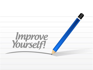 improve yourself post illustration design