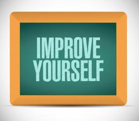 improve yourself sign illustration design