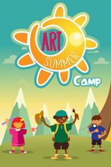Art summer camp poster