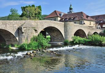 Werrabrücke von 1534 in Obermassfeld bei Meiningen