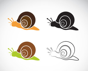 Vector image of an snail