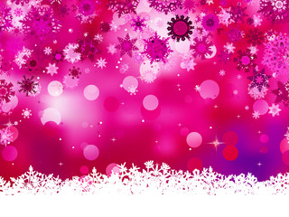 Elegant christmas pink with snowflakes. EPS 8
