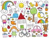 Children's doodle - 65972620