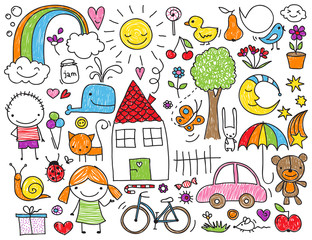 Dzieci doodle