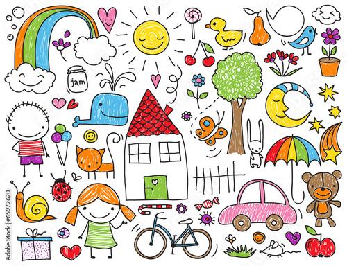 Fototapeta Children's doodle
