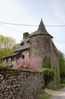 Ancient house in Paimpont. Broceliande, France.