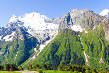 Caucasus mountains in Russia