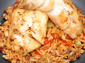 Cooked Fish And Rice