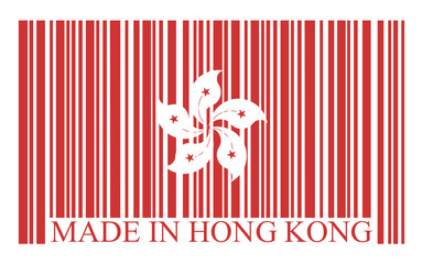 Hong Kong barcode flag, vector