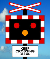 Open Level Crossing without gate or barrier