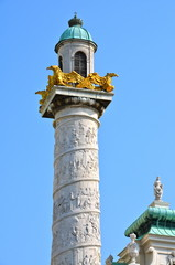 Column of Karlskirche in VIenna