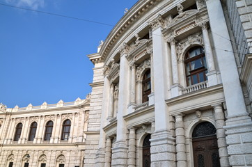 Historic Burgtheater (Imperial Court Theatre) in Vienna, Austria
