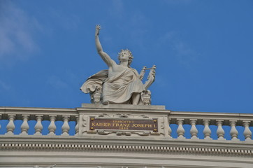 Statue at the Burgtheater  in Vienna, Austria