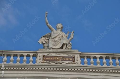 Statue at the Burgtheater  in Vienna, Austria