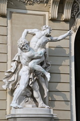Sculptures on Michaelerplatz, Hofburg, Vienna, Austria