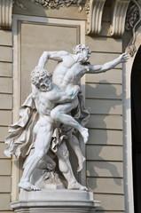Sculptures on Michaelerplatz, Hofburg, Vienna, Austria